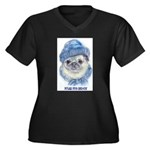 Gumpy's Store Women's Plus Size V-Neck Dark T-Shir