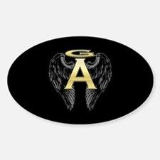 Archangel Wings Oval Decal