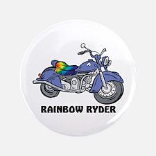 "Rainbow Ryder 3.5"" Button"