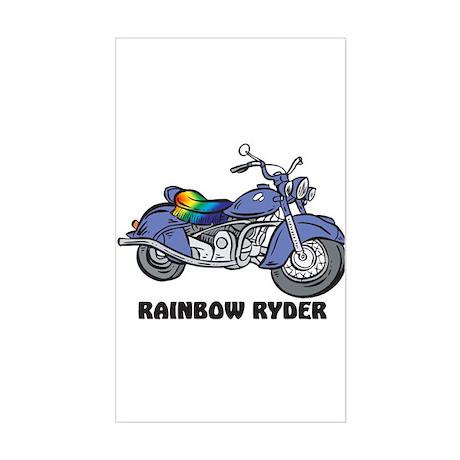 Rainbow Ryder Rectangle Sticker
