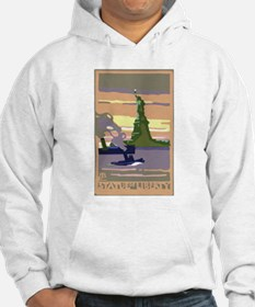 Vintage Travel Poster New York City Hoodie