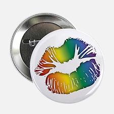 "Big Rainbow Lips 2.25"" Button (100 pack)"