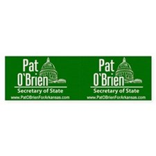 Pat O'Brien for Arkansas Secr Bumper Sticker