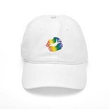 Big Rainbow Lips Baseball Cap
