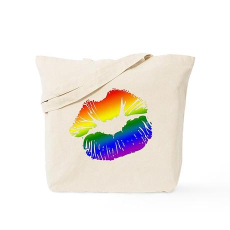 Big Rainbow Lips Tote Bag