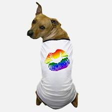 Big Rainbow Lips Dog T-Shirt