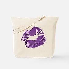 Big Purple Lips Tote Bag