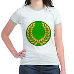 Green with Gold Laurel Jr. Ringer T-Shirt