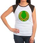 Green with Gold Laurel Women's Cap Sleeve T-Shirt