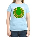 Green with Gold Laurel Women's Pink T-Shirt