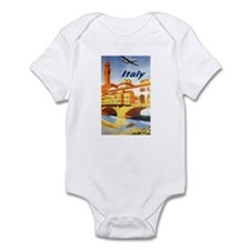 Vintage Travel Poster Italy Infant Bodysuit