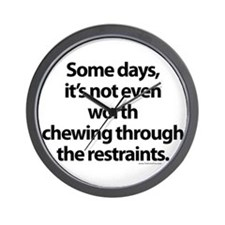 Chewing through the restraint Wall Clock