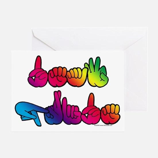 Deaf Pride Rainbow Greeting Card