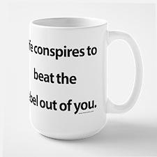 Life conspires Large Mug