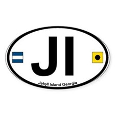 Jekyll Island GA Oval Decal