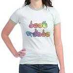 Deaf Pride Pastel Jr. Ringer T-Shirt