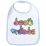Deaf Pride Pastel Bib