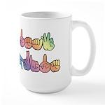 Deaf Pride Pastel Large Mug