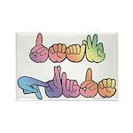 Deaf Pride Pastel Rectangle Magnet (100 pack)
