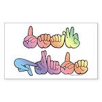 Deaf Pride Pastel Sticker (Rectangle)