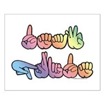 Deaf Pride Pastel Small Poster