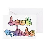 Deaf Pride Pastel Greeting Cards (Pk of 10)