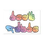 Deaf Pride Pastel Mini Poster Print
