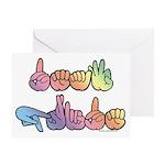 Deaf Pride Pastel Greeting Card