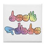 Deaf Pride Pastel Tile Coaster