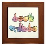 Deaf Pride Pastel Framed Tile