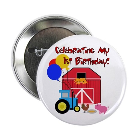 "Farm First Birthday 2.25"" Button (10 pack)"