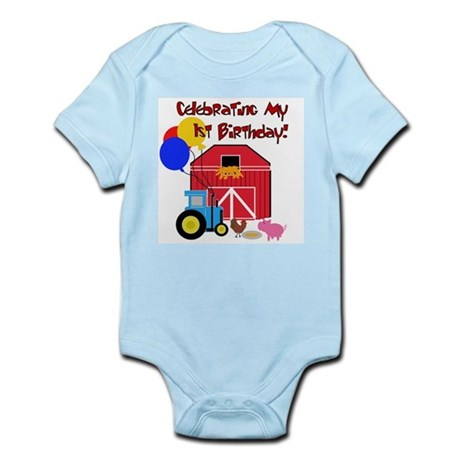 Farm First Birthday Infant Creeper