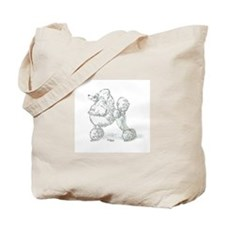 Funny Poodle art Tote Bag
