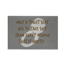 Toilet Seat Rectangle Magnet