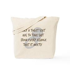 Toilet Seat Tote Bag