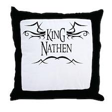 King Nathen Throw Pillow
