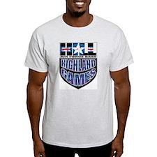 HILL AFB Highland Games Grey T-Shirt