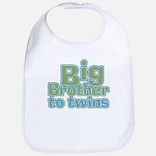 Big Brother to Twins Bib