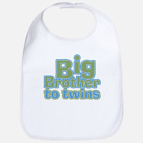 Big Brother to Twins Bib