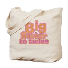 Big Sister to Twins Tote Bag