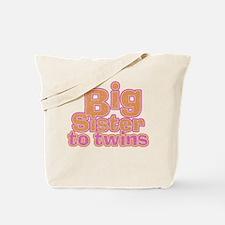 Big Sister to Twins Tote Bag