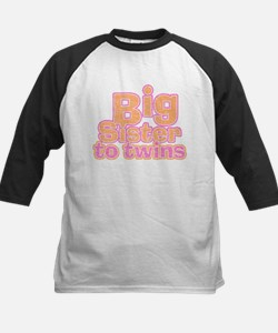 Big Sister to Twins Kids Baseball Jersey