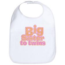 Big Sister to Twins Bib