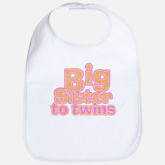 Big Sister to Twins Bib