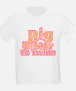 Big Sister to Twins T-Shirt