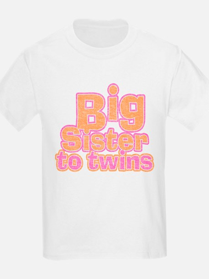 Big Sister to Twins T-Shirt