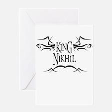 King Nikhil Greeting Card