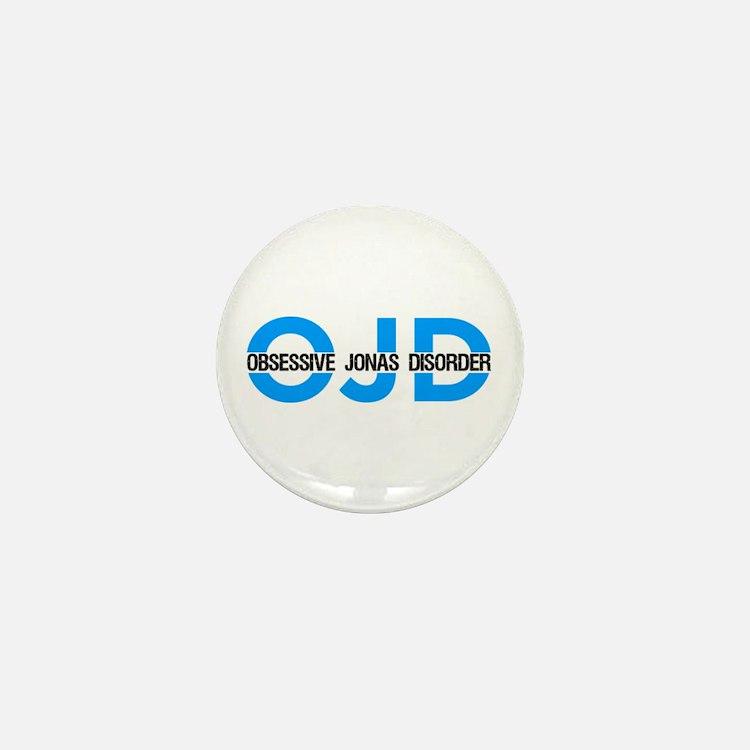 OJD: Obessive Jonas Disorder Mini Button