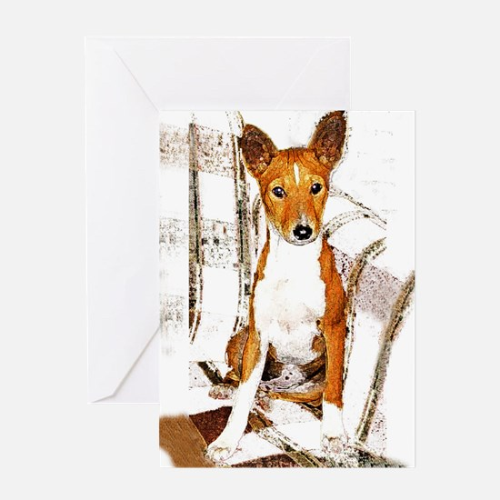 Quiet Moments Basenji Greeting Card