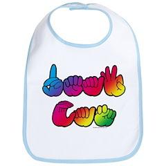 DEAF CAN Rainbow Bib